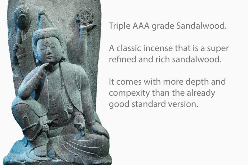 Triple AAA Grade Sandalwood Incense 10 Sticks