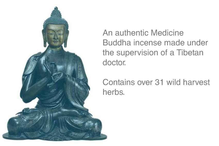 Medicine Buddha Tibetan Incense Approx 30 stick Box