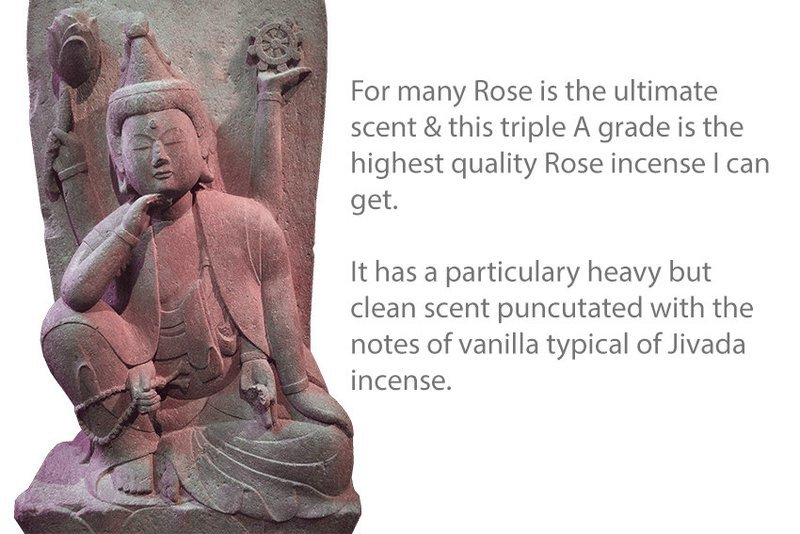 Double Absolute Rose Incense 10 Sticks