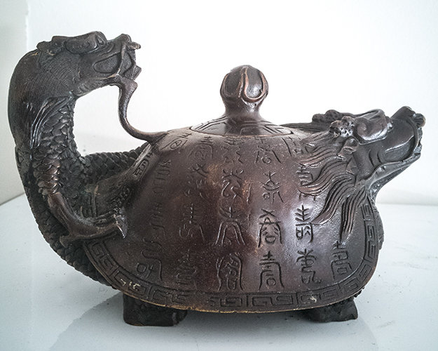 ** £75 after discount ** Dragon Turtle Bronze Incense Burner. Click for details