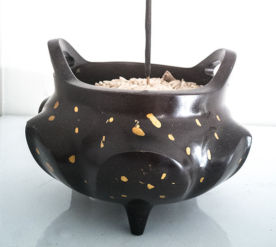 ** £75 after discount ** Pumpkin Shaped Bronze Metal Incense Burner. Click for details
