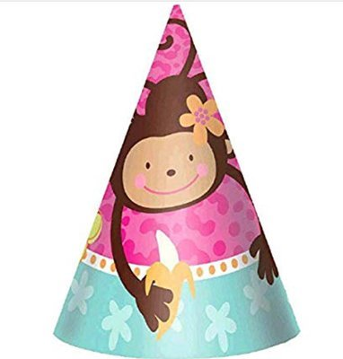 Monkey Love 8 ct Party Hat