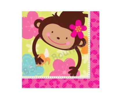 Monkey Love Beverage Napkins (16 ct)
