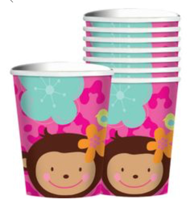 Monkey Love 9 ounce cups (8 ct)