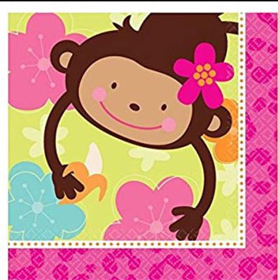Monkey Love Luncheon Napkins (16 ct)