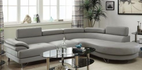 Fabulous Poundex 2 Pcs Sectional Sofa F6984 Inzonedesignstudio Interior Chair Design Inzonedesignstudiocom