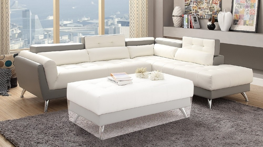 Cool Poundex 2 Pcs Sectional Sofa F6979 Inzonedesignstudio Interior Chair Design Inzonedesignstudiocom