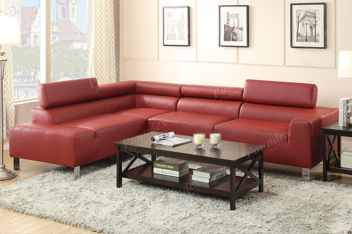 Cool Poundex 2 Pcs Sectional Sofa F7300 Inzonedesignstudio Interior Chair Design Inzonedesignstudiocom
