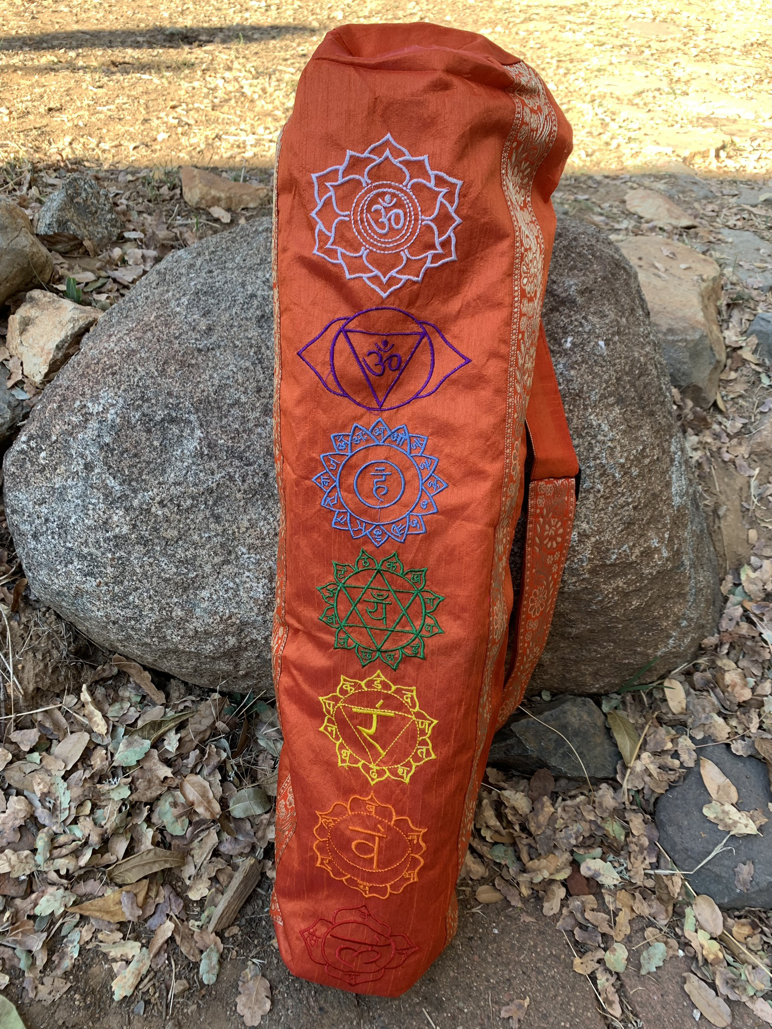 Orange Yoga Mat Bag 00051