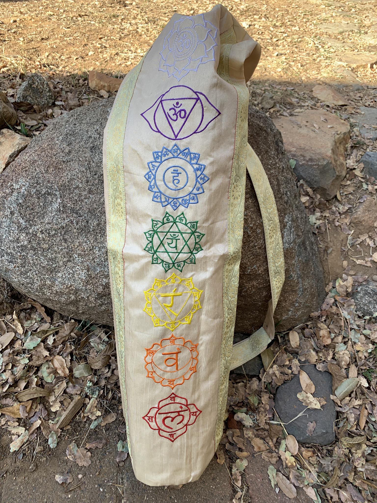 Cream Yoga Mat Bag 00043