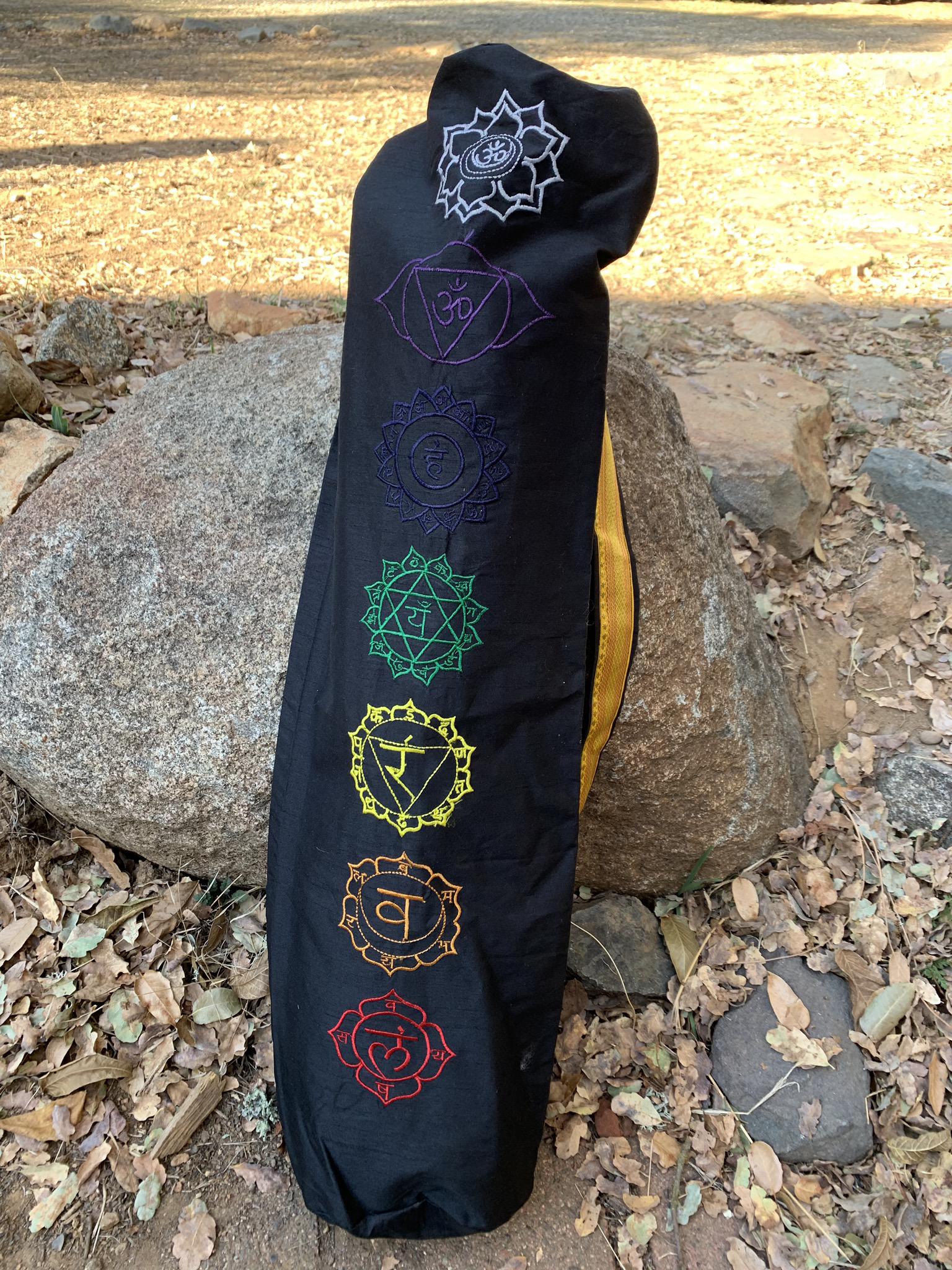 Black Yoga Mat Bag 00046