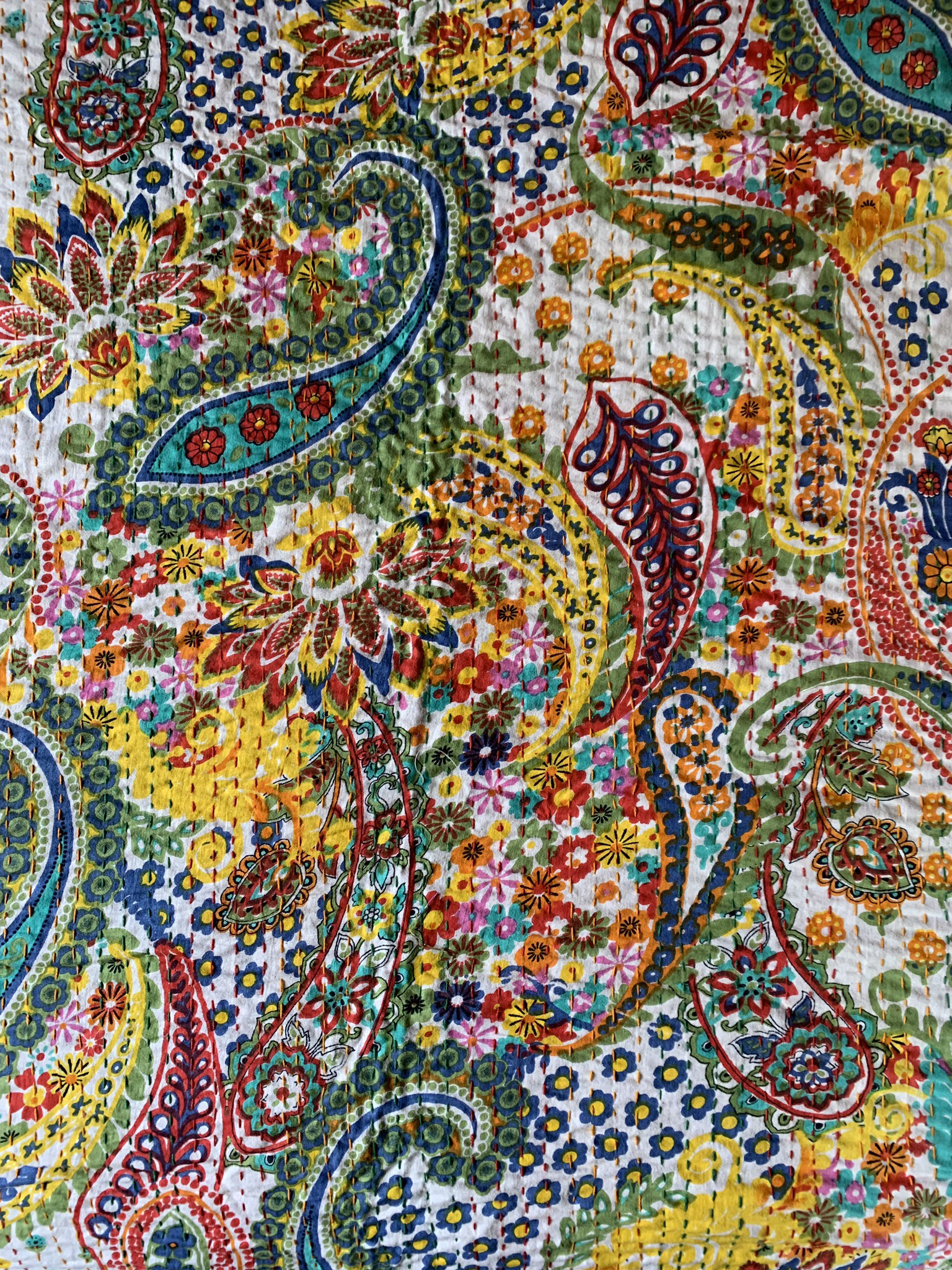 Color Paisley Throw Blanket 00081
