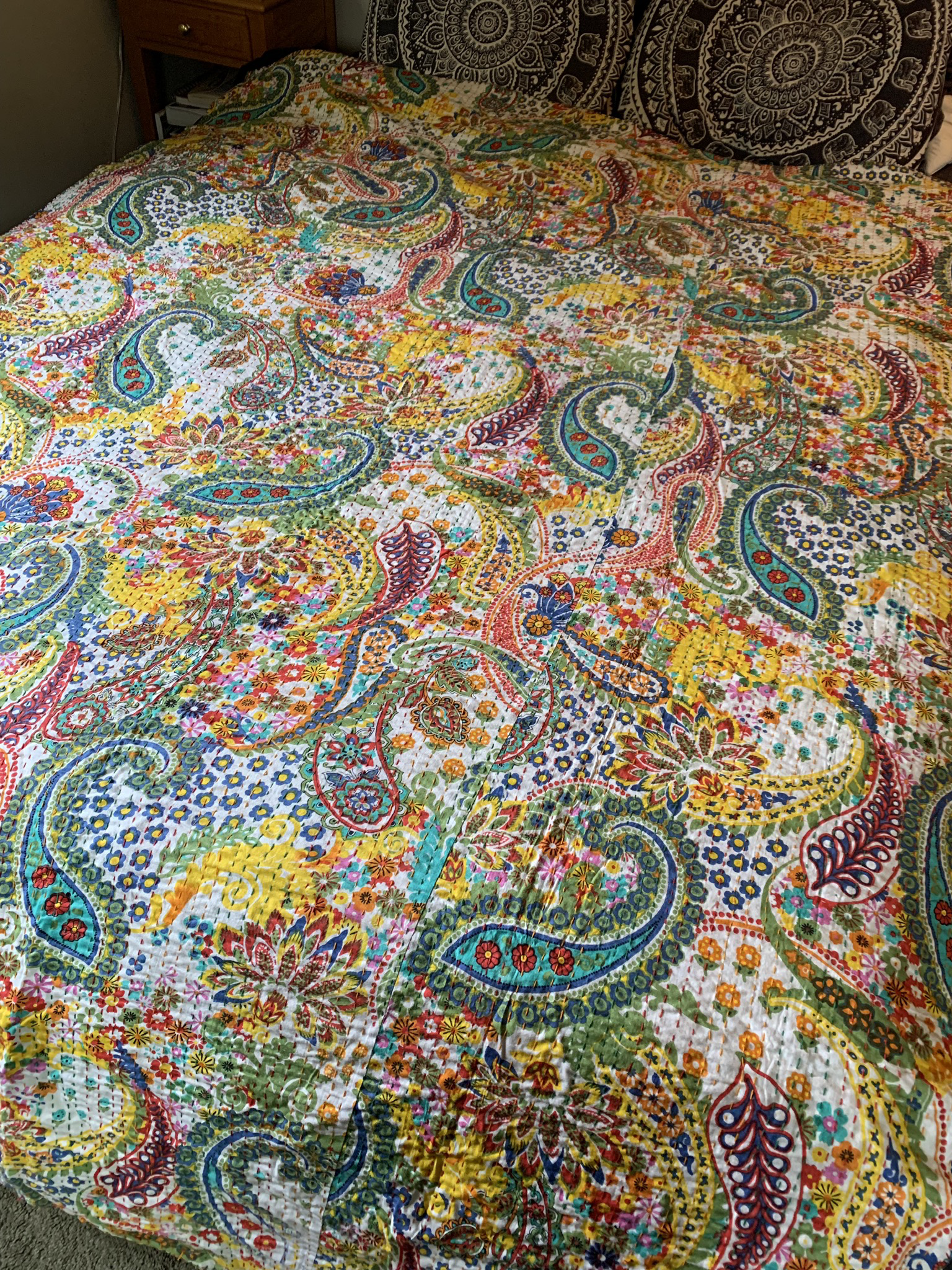 Color Paisley Throw Blanket