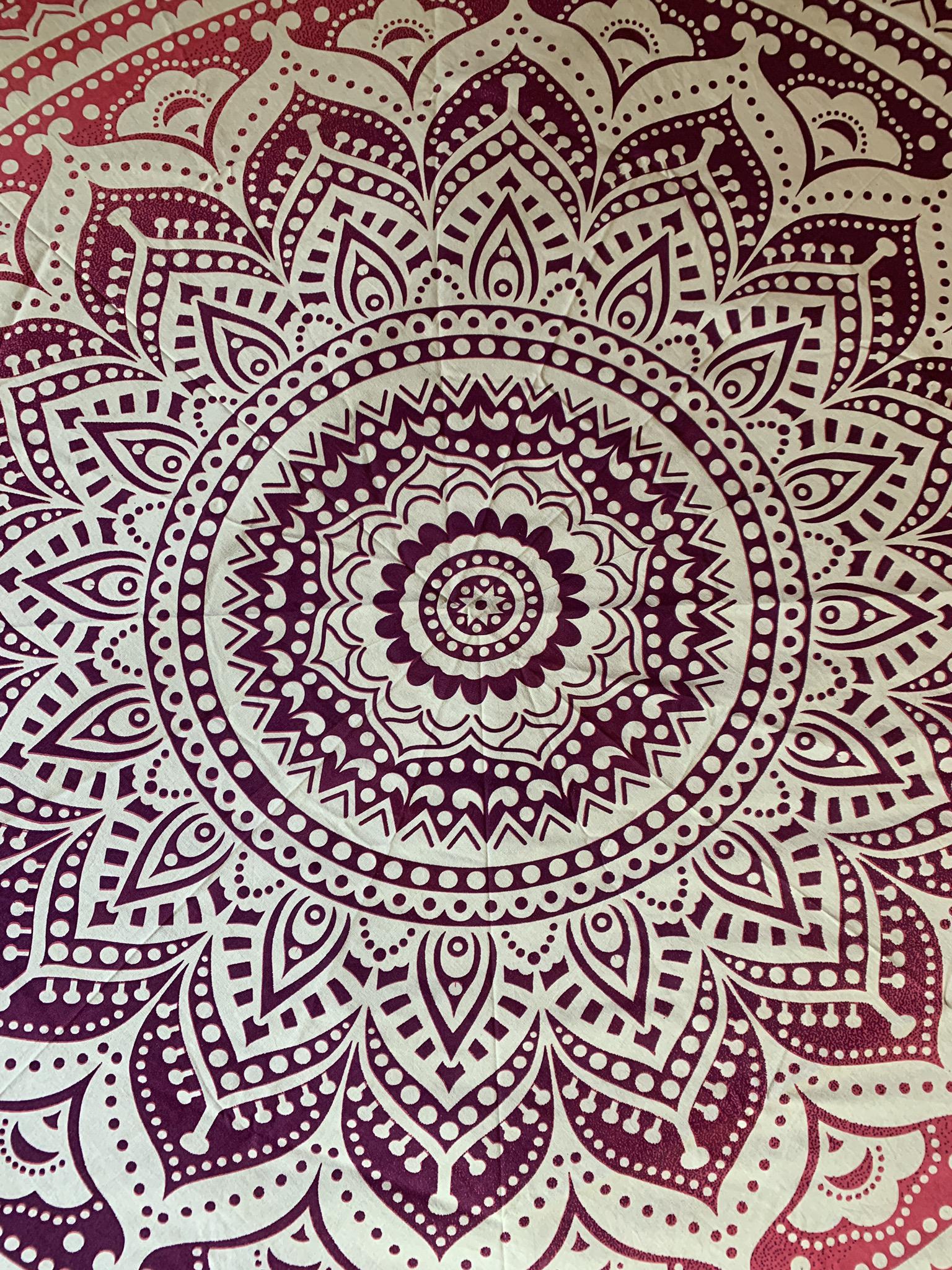 Large Pink Mandala Tapestry