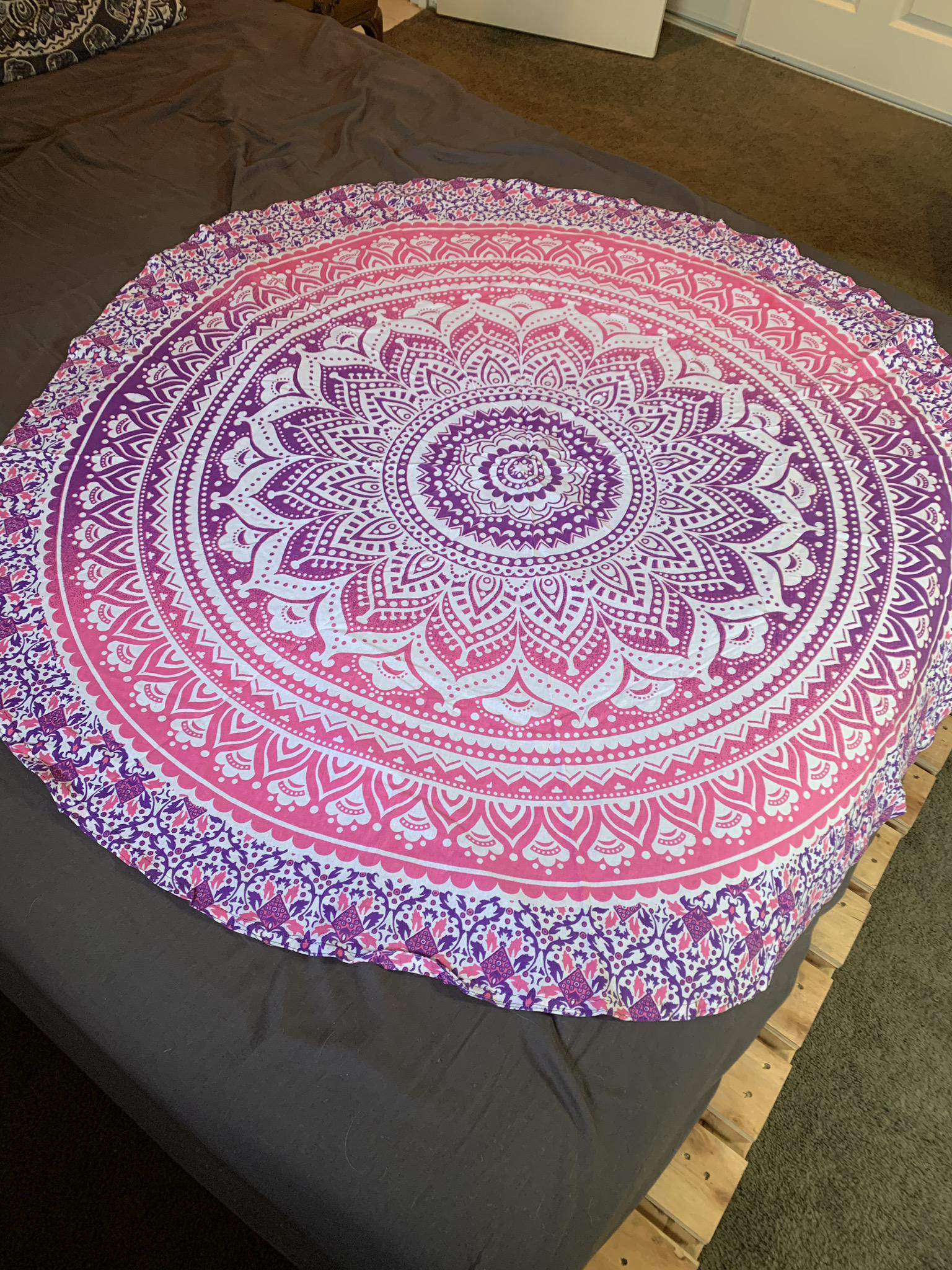Small Pink Mandala Tapestry