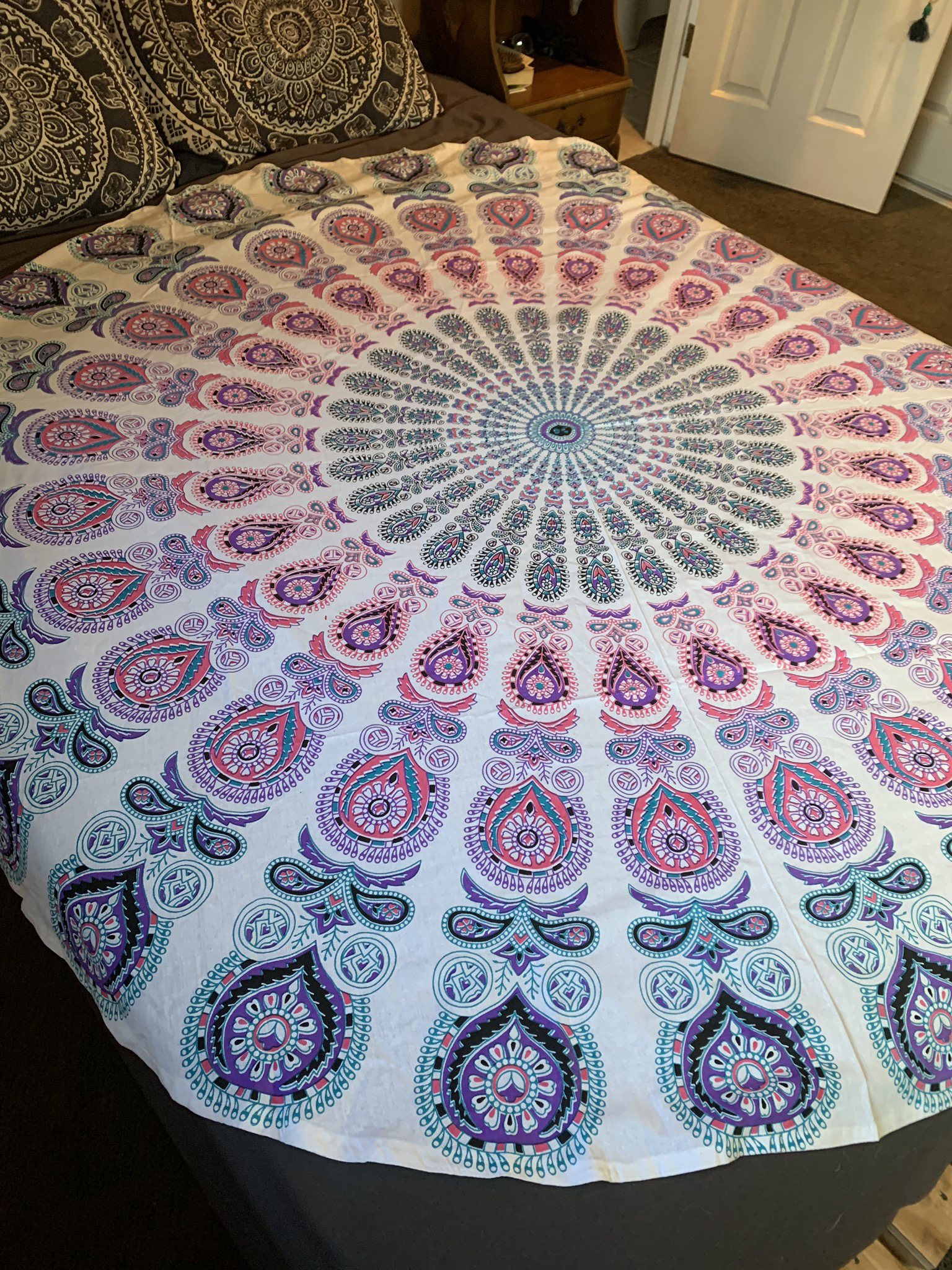 Large Pink Tapestry 00089