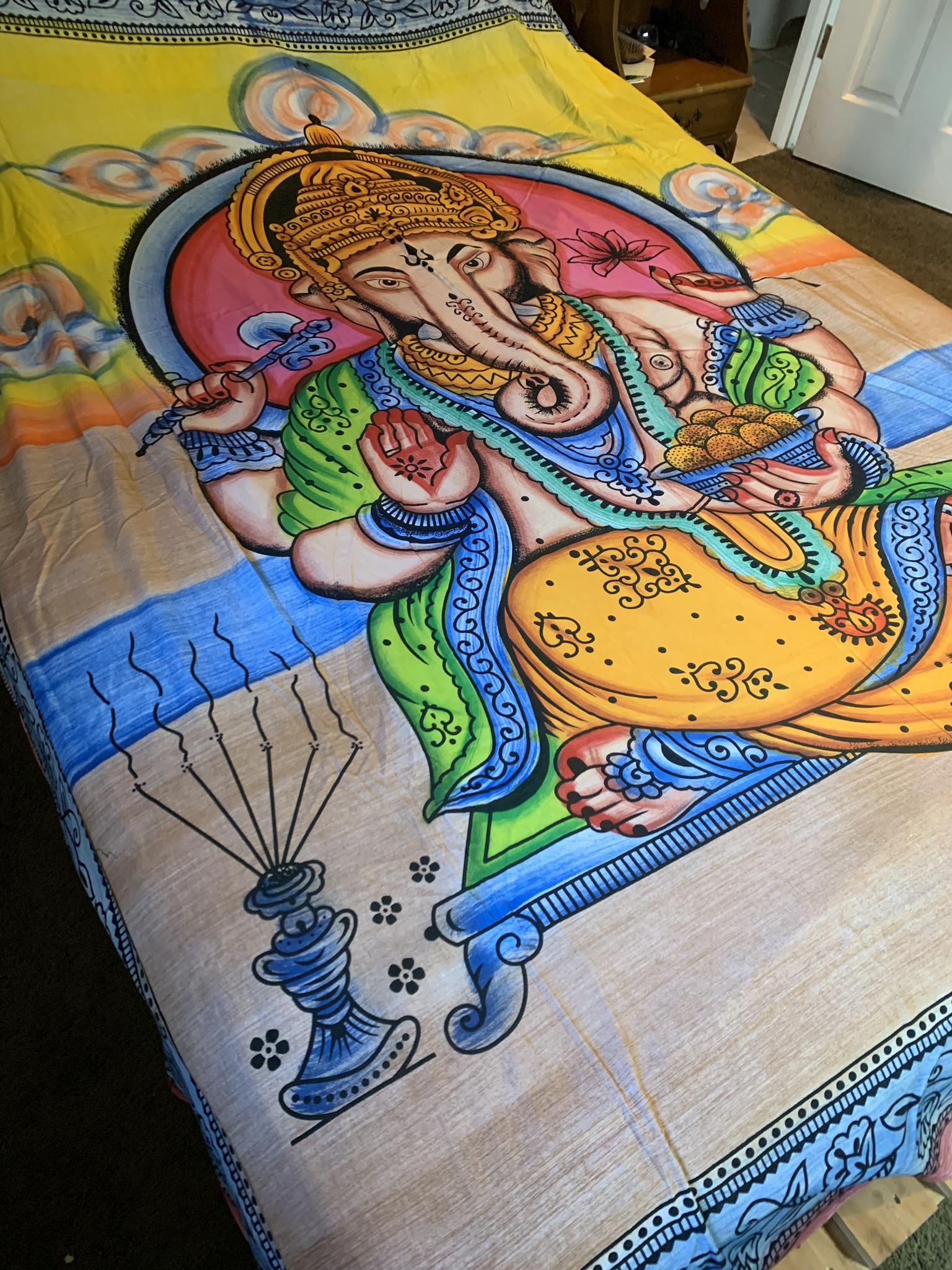 XL Ganesha Tapestry  00088