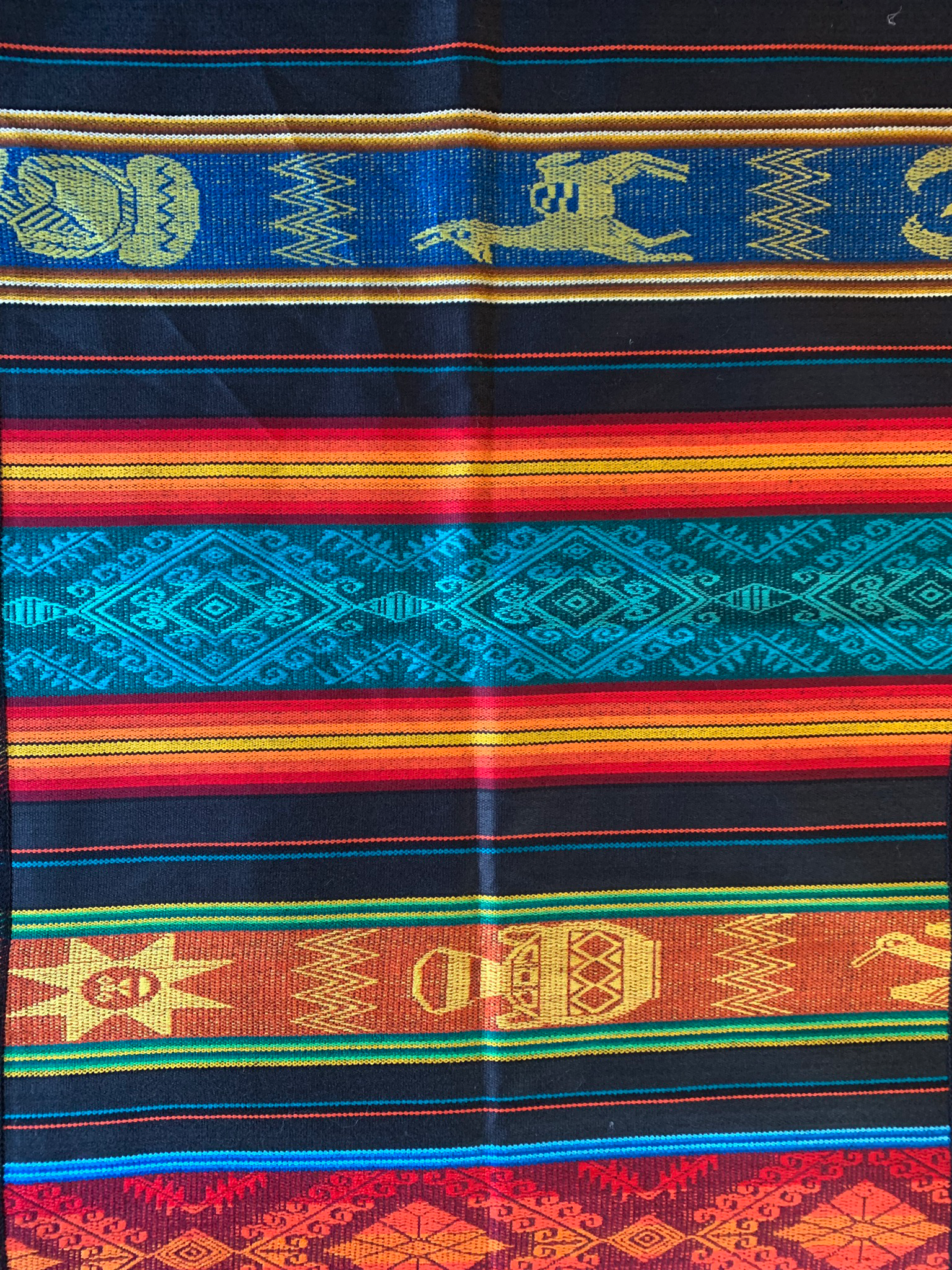 Black Mexican Table Runner