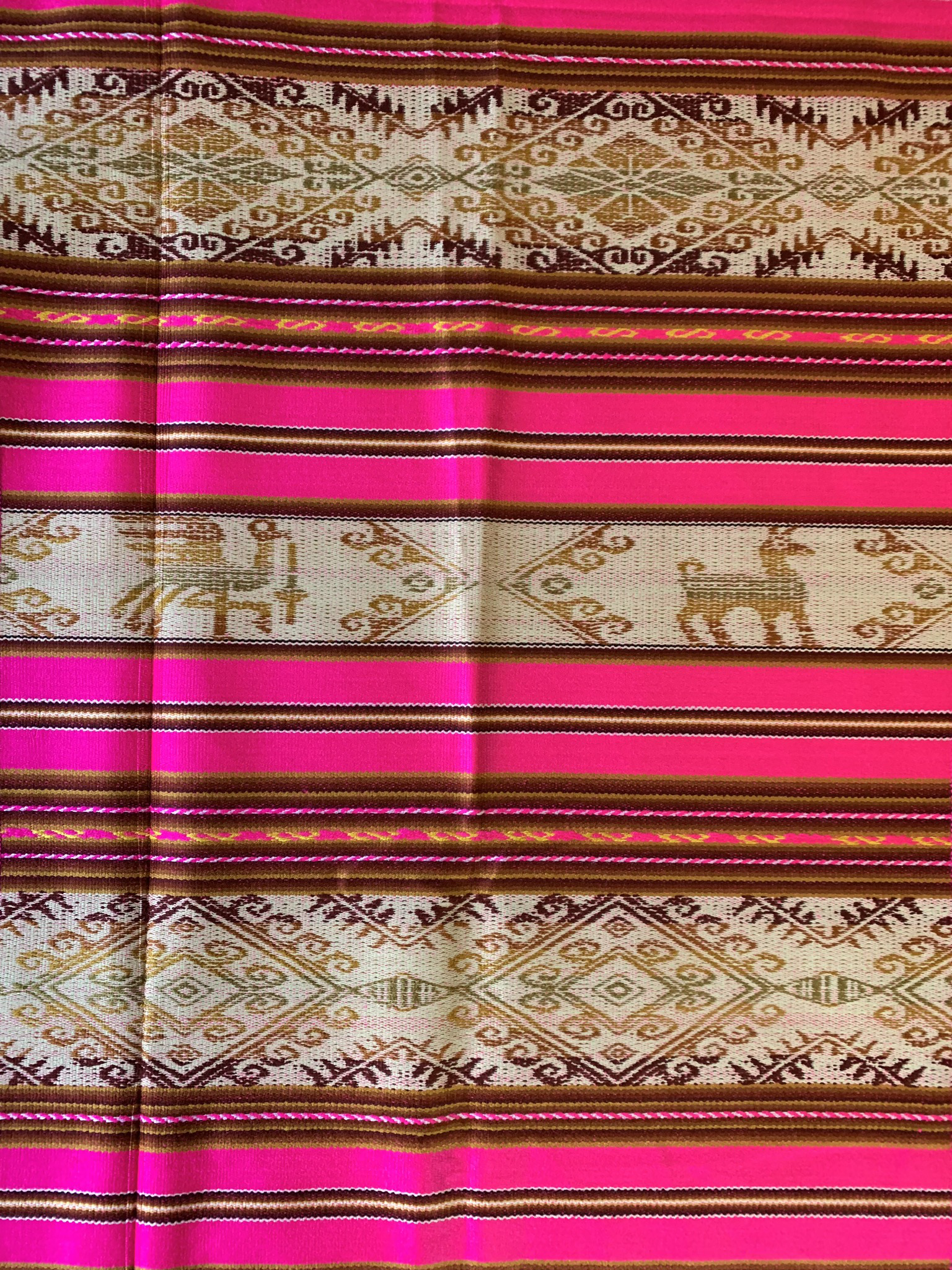 Pink Mexican Table Runner 00094