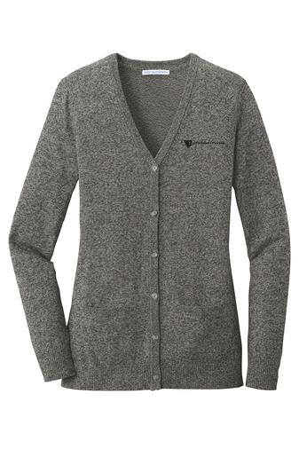 Port Authority Ladies' Marled Cardigan Sweater HRGDB-JCYFB