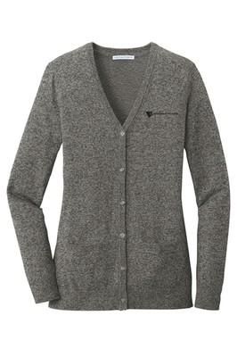 Port Authority Ladies' Marled Cardigan Sweater