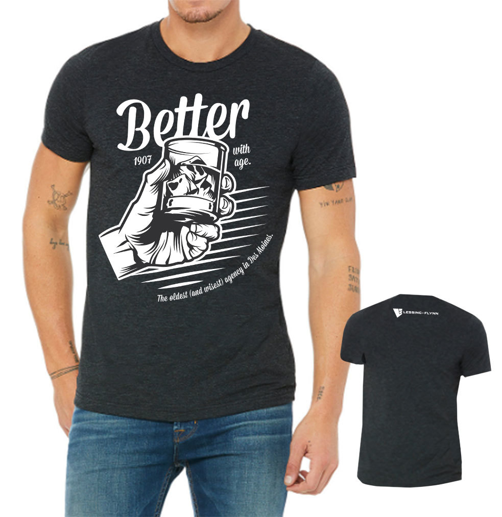 Better with Age T-shirt - Short Sleeve, Crewneck Style 00023