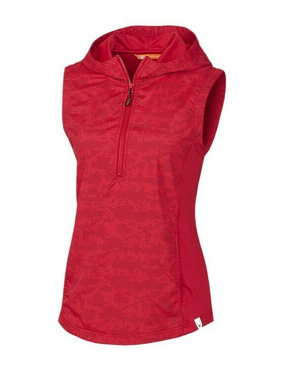 Ladies Swish Printed Sport Vest - Red w/ Heat seal logo