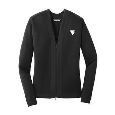 Port Authority Ladies Concept Bomber Cardigan Sweater w/ Heat-Sealed Logo