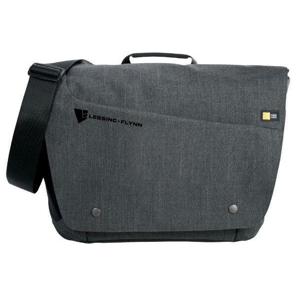 "Case Logic® Reflexion 15.6"" Computer Messenger Bag - Gray w/ Heat-sealed Logo HPJGH-JYCXJ"