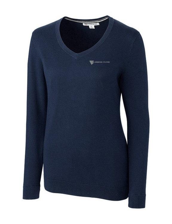Cutter & Buck Lakemont V-neck Sweater-Ladies w/ Embroidered Logo GVLDG-LNIGI