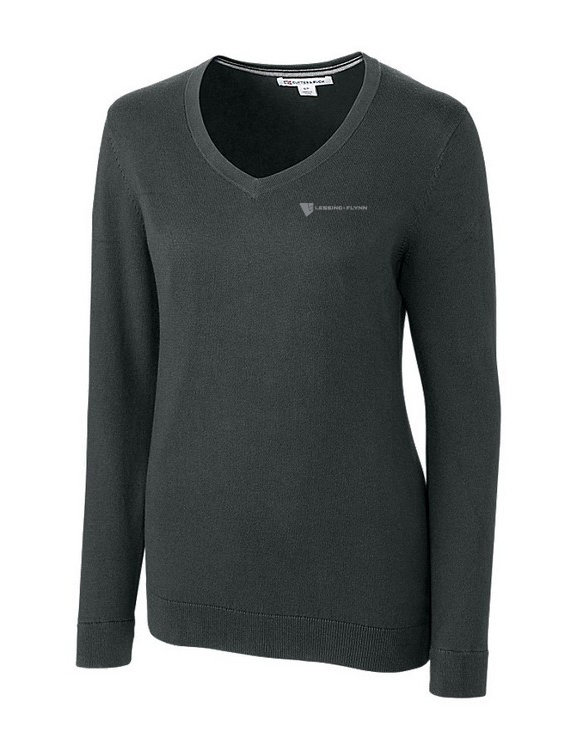 Cutter & Buck Lakemont V-neck Sweater-Ladies w/ Embroidered Logo