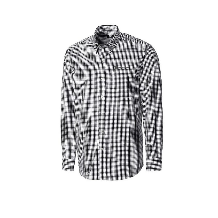 Cutter & Buck Men's Gilman Plaid w/ Embroidered Logo