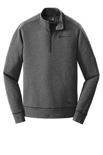 New Era® Tri Blend Fleece 1/4 Zip Pullover Shirt w/ Heat Sealed Logo CUIKJ-MALKV