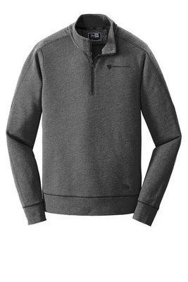 New Era® Tri Blend Fleece 1/4 Zip Pullover Shirt w/ Heat Sealed Logo