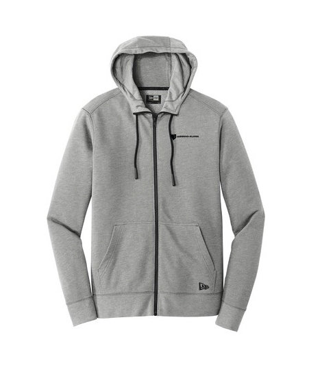 New Era® Tri Blend Fleece Full Zip Hoodie w/ Heat-Sealed Logo YUIKE-MALKQ