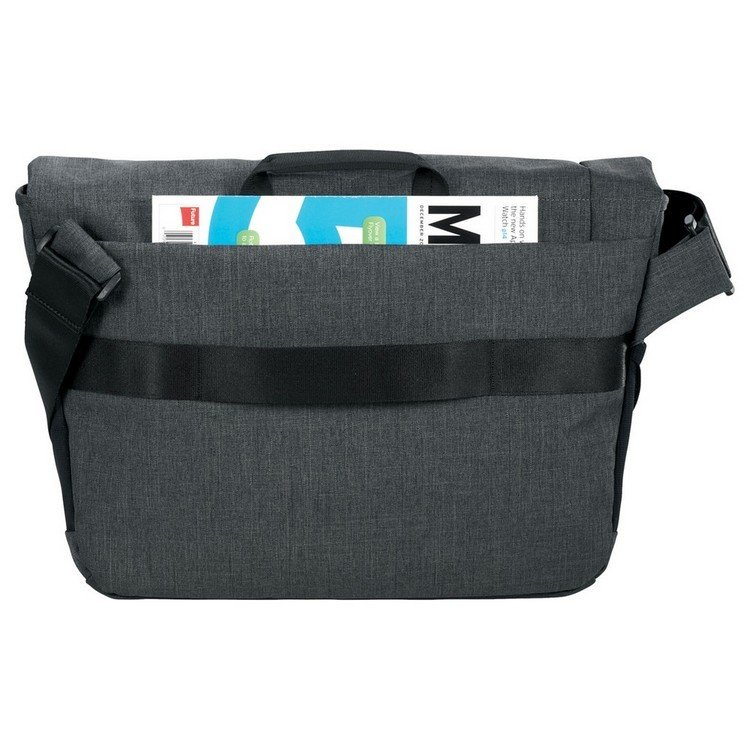 "Case Logic® Reflexion 15.6"" Computer Messenger Bag - Gray w/ Heat-sealed Logo"