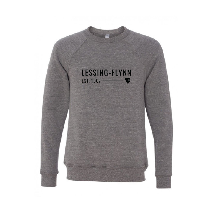 Bella+Canvas® Unisex Sponge Fleece Raglan Sweatshirt - Gray w/ Screen-Printed Logo USMED-MLKCX