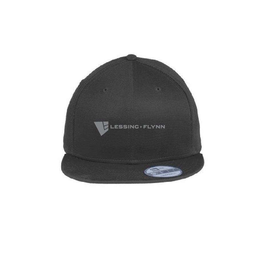 New Era Flat Bill Snapback Cap w/ Embroidered Logo LSLEC-GOXMC