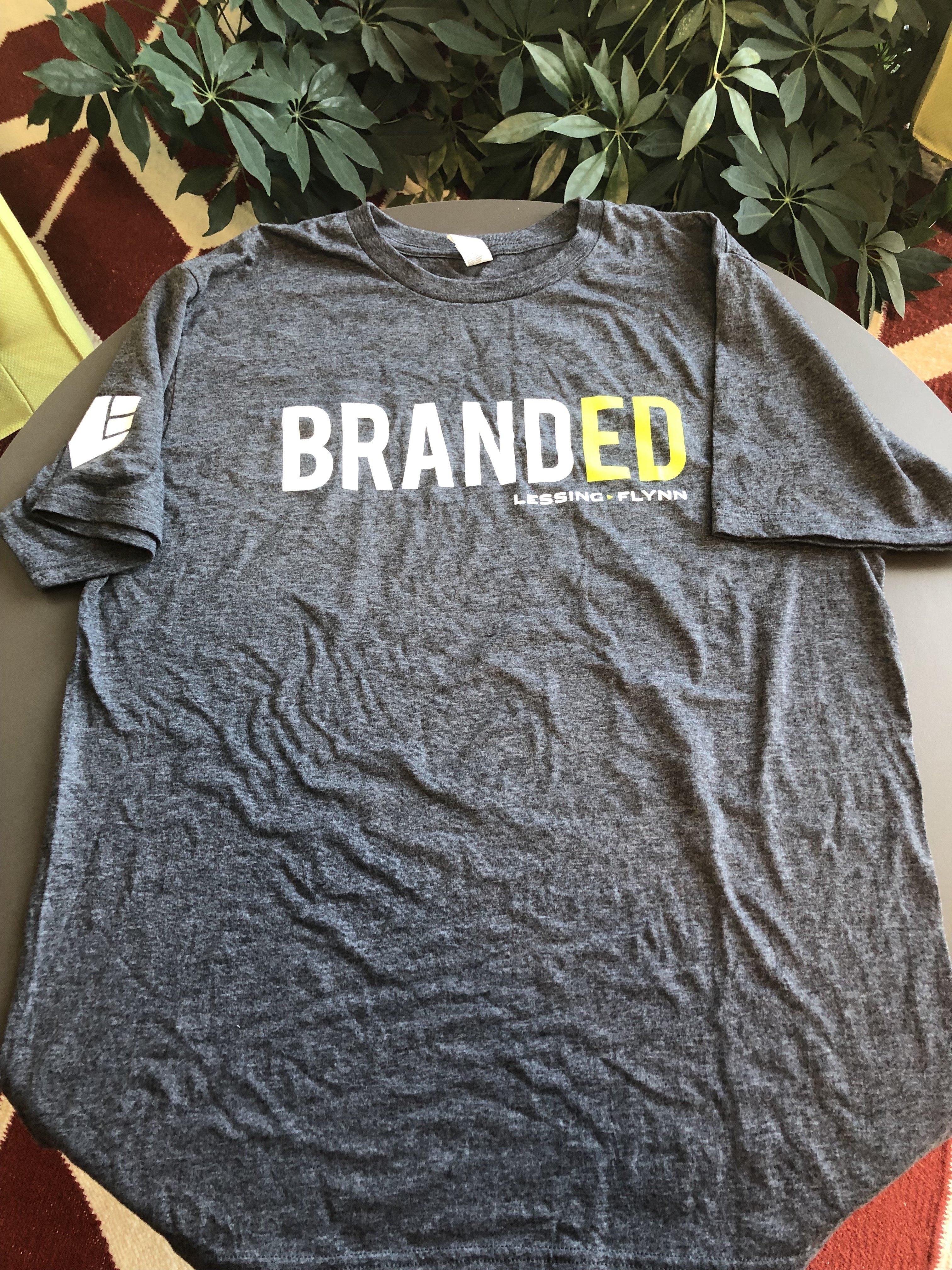 """Anvil Dark Gray """"Branded"""" T-Shirt 00009"""
