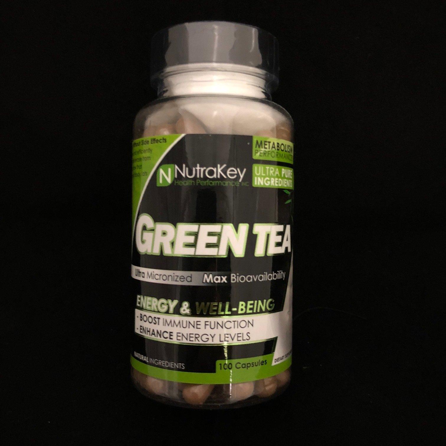 Green Tea Nutra Key 100 Capsules 628586742208