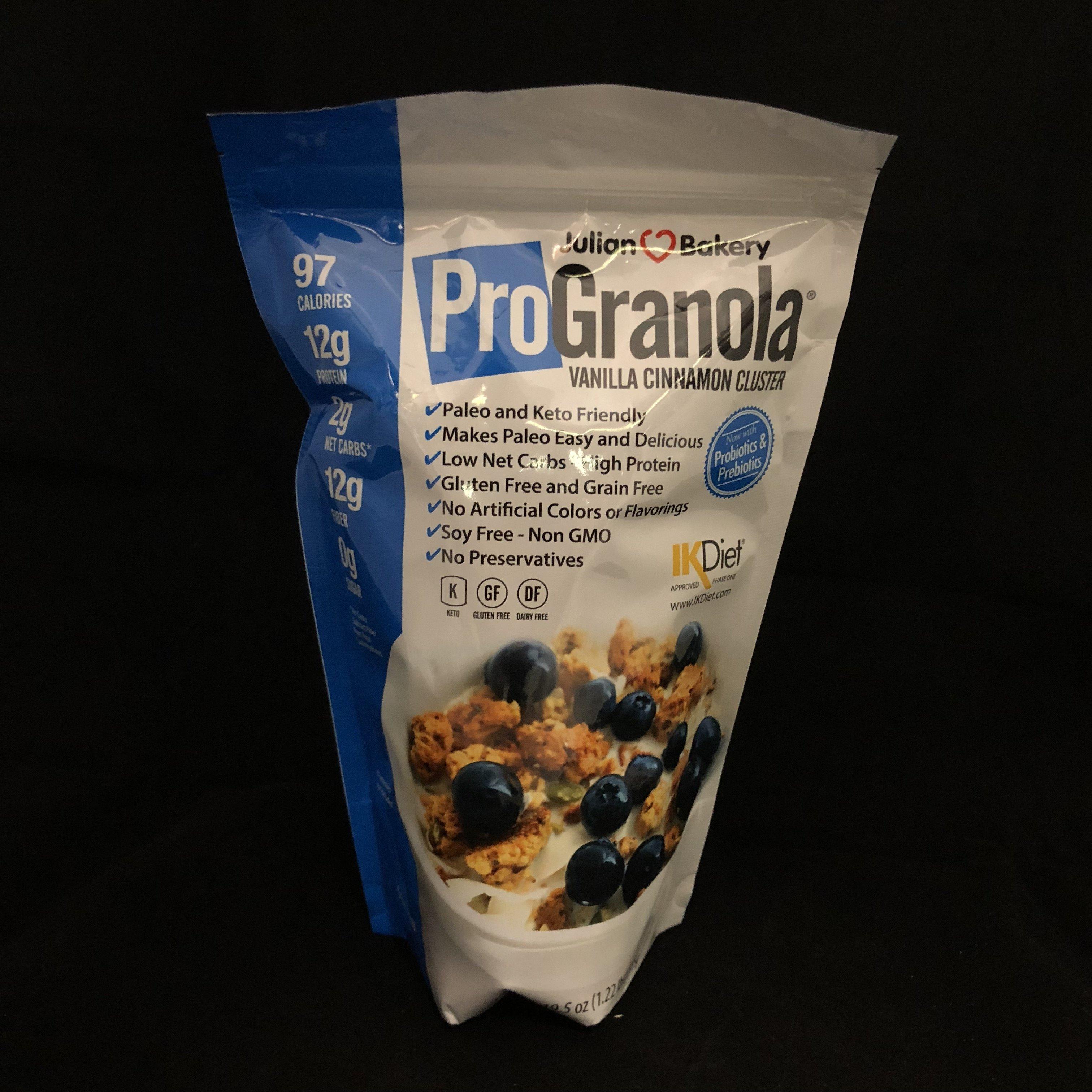 Pro granola Cereal Vanilla Cinnamon 813926004591