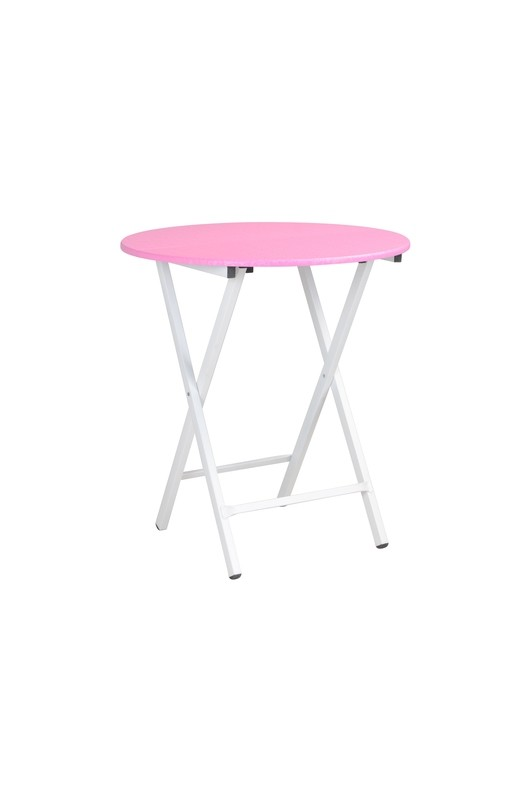 Foldable Table (Boot Round Pink)
