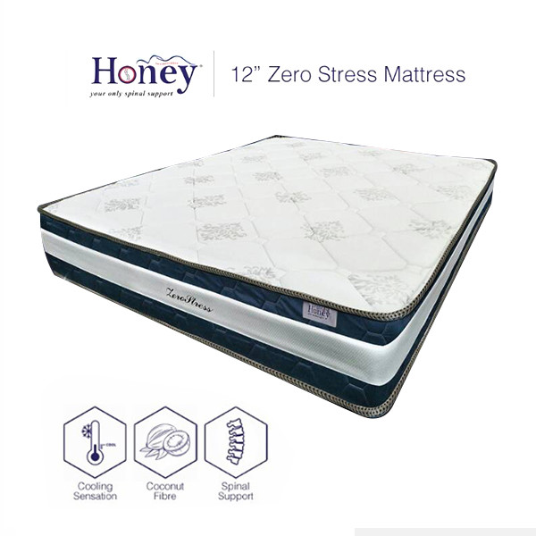 Honey 12'' Zero Stress Mattress