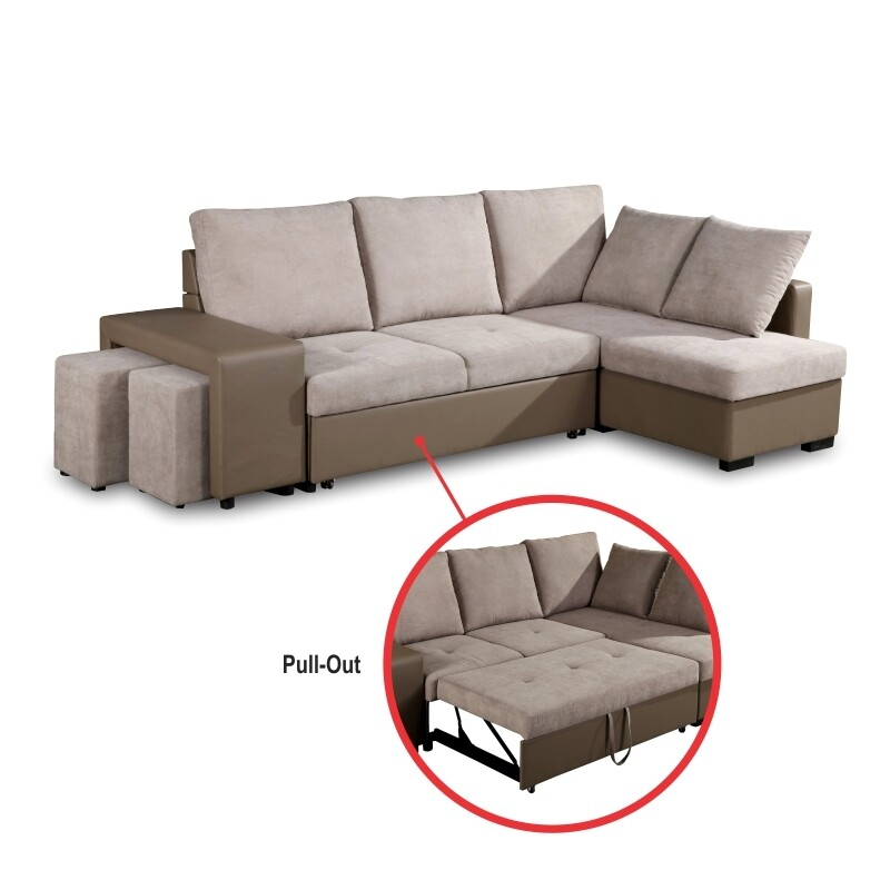 Fabric Sofa Bed (Grmbau)