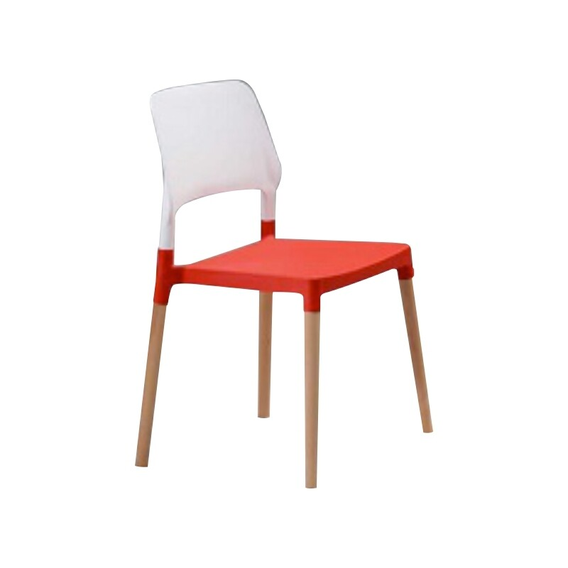 Dining Chair (White red/ Red White)
