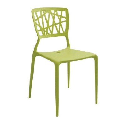 Dining Chair (Black/Green/White)