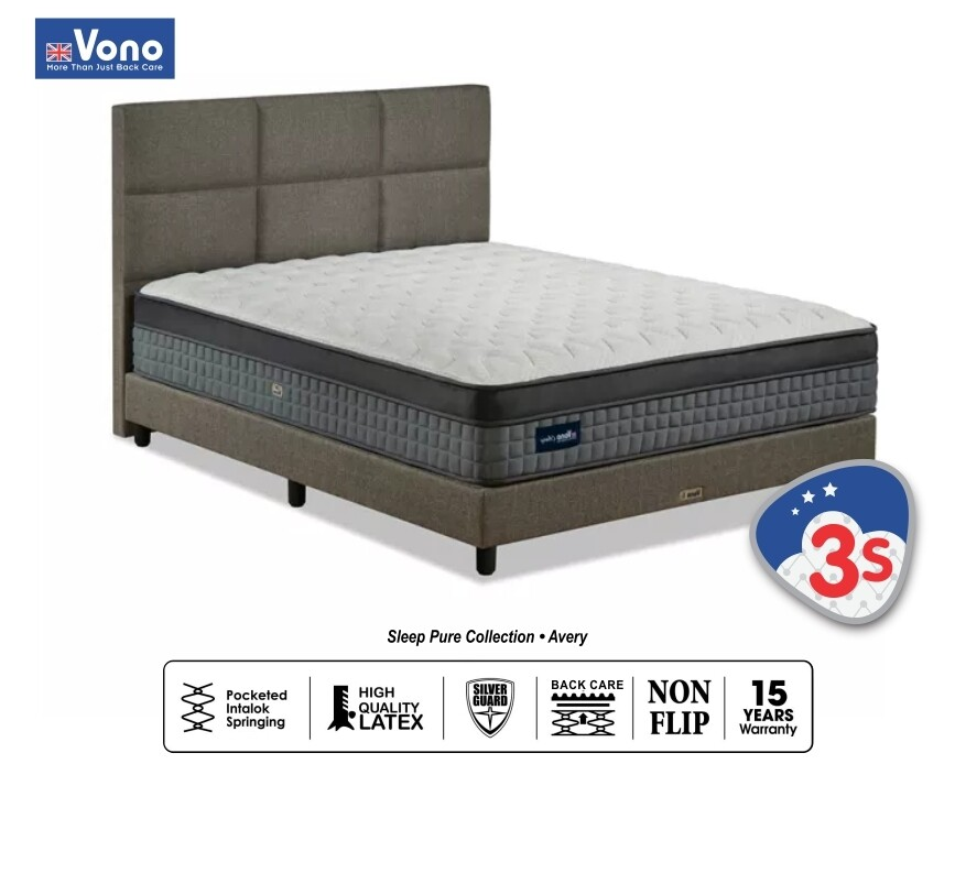 "[FREE 2 VONO PILLOW + DIVAN] Vono 12.5"" Sleep Pure Collection (Avery) - Queen/King"