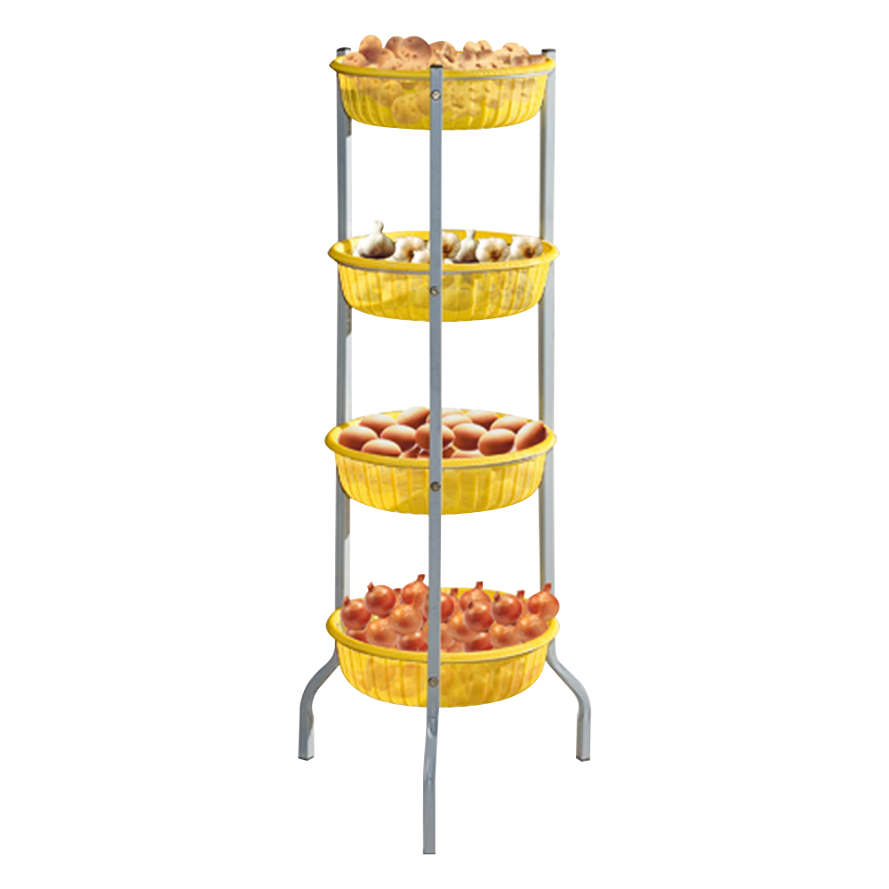 Rack with round basket