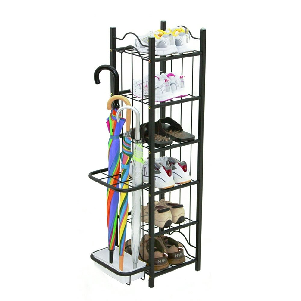 Shoes rack and umbrella holder