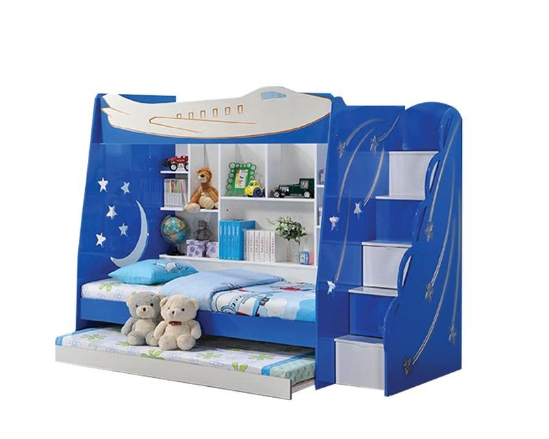 [PRE-ORDER] Children Triple Bunk Bed with ladder
